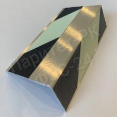 Алюминиевый профиль-ступень 50мм*28мм с износостойкой фотолюминесцентной лентой по ГОСТ с изображением