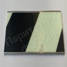 Плоский алюминиевый профиль 25 мм с фотолюминесцентной лентой по ГОСТ с изображением и с износостойким покрытием