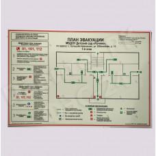 Планы эвакуации на фотолюминесцентной пленке ФЭС-24 по ГОСТ размер А3 (300*400мм) без твердой основы