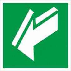 """Знак E 19 """"Открывать движением на себя"""" на фотолюминесцентной пленке, размер 100*100"""