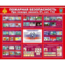 """Информационный стенд """"Пожарная безопасность"""" размером 1150*950мм"""
