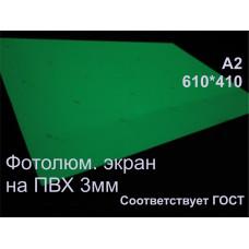 Фотолюминесцентные светонакопительные экраны ФЭС-24 на твердой основе ПВХ 3мм по ГОСТ А2