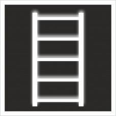"""Знак F 03 """"Пожарная лестница"""" на световозвращающей светоотражающей пленке на ПВХ"""