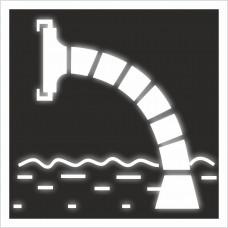 """Знак F 07 """"Пожарный водоисточник"""" на световозвращающей светоотражающей пленке на ПВХ"""