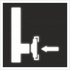 """Знак F 08"""" Пожарный сухотрубный стояк"""" на световозвращающей светоотражающей пленке на ПВХ"""