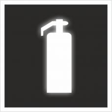 """Знак F 04 """"Огнетушитель"""" на световозвращающей светоотражающей пленке на ПВХ"""